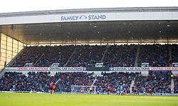 Snow falls over family stand during the Ladbrokes Scottish Premiership match at Ibrox Stadium, Glasgow.
