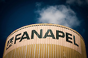 20170218/ Javier Calvelo - adhocFOTOS/ URUGUAY/ COLONIA - JUAN LACAZE/ Juan Lacaze es una ciudad del departamento de Colonia, Uruguay a 150 km. de Montevideo y 49 de Colonia. La principal fuente laboral que seguía funcionando para los lacazinos era Fanapel (Fábrica Nacional de Papel) una sociedad anónima fundada en 1898. El 23 de diciembre de 2016 los trabajadores de Fanapel fueron todos al seguro de paro y autoridades de Fanapel comunicaron en febrero a los trabajadores, 260 personas empleados directos de Fanapel y 40 personas de 3 empresas tercerizadas que hacían el trabajo de portería logística y electricidad, que la fabrica no reabriría. <br /> En la foto:  Fábrica de papel Fanapel en Juan Lacaze, Colonia. Foto: Javier Calvelo/ adhocFOTOS