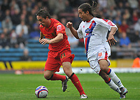 Photo: Tony Oudot/Richard Lane Photography.  Crystal Palace v Watford. Coca-Cola Championship. 09/08/2008.<br /> Tommy Smith of Watford moves away from Sean Scannell of Crystal Palace