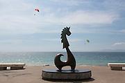 """Caballero del Mar"" (""The Seahorse"") by Rafael Zamarripa, The Malecon, Puerto Vallarta, Jalisco, Mexico"