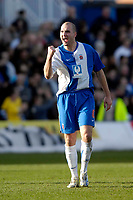 Photo: Jed Wee/Sportsbeat Images.<br /> Hartlepool United v Hereford United. Coca Cola League 2. 03/03/2007.<br /> <br /> Hartlepool's Ben Clark celebrates his opening goal.