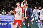 DESCRIZIONE : Campionato 2014/15 Dinamo Banco di Sardegna Sassari - Grissin Bon Reggio Emilia<br /> GIOCATORE : Drake Diener Federico Pasquini<br /> CATEGORIA : Ritratto Before Pregame Fair Play<br /> EVENTO : LegaBasket Serie A Beko 2014/2015<br /> GARA : Dinamo Banco di Sardegna Sassari - Grissin Bon Reggio Emilia<br /> DATA : 22/12/2014<br /> SPORT : Pallacanestro <br /> AUTORE : Agenzia Ciamillo-Castoria / Claudio Atzori<br /> Galleria : LegaBasket Serie A Beko 2014/2015<br /> Fotonotizia : Campionato 2014/15 Dinamo Banco di Sardegna Sassari - Grissin Bon Reggio Emilia<br /> Predefinita :