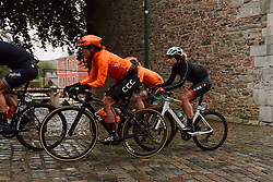 Marianne Vos (NED) and Marlen Reusser (SUI) in the lead group at the 2020 Liège Bastogne Liège, a 135 km road race from Bastogne to Liège, Belgium on October 4, 2020. Photo by Sean Robinson/velofocus.com