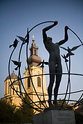 Peace Statue and the Orthodox cathedral, Sarajevo