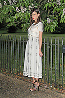 LONDON - JUNE 26: Caroline Sieber attended the Serpentine Gallery summer party, Kensington Gardens, London, UK. June 26, 2012. (Photo by Richard Goldschmidt)