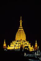 The Ananda Temple at night, Bagan (Pagan), Burma (Myanmar)