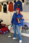 Moscow, Russia, 20/09/2003..The opening day of the Moscow Polo Club, featuring the Russian Polo Cup 2003, the first event of its kind in Russia since the 1917 Bolshevik revolution. Moscow PoloCclub leisure wear & equipment for sale..