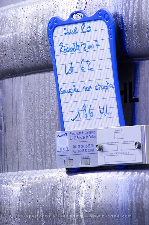 tanks with cooling coils chateau belgrave haut medoc bordeaux france