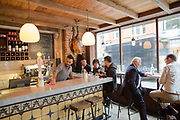 Interior of José Tapas Bar on 13th October 2015 along Bermondsey Street in London, United Kingdom.