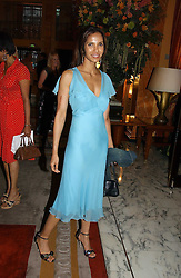 PADMA LAKSHMI at a party to celebrate the opening of The Bar at The Dorchester, Park Lane, London on 27th June 2006.<br />
