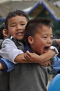 Young children in Darjeeling, West Bengal, India