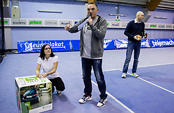 Lae Stumberger and Gasper Bolhar at Tennis exhibition day and Slovenian Tennis personality of the year 2013 annual awards presented by Slovene Tennis Association TZS, on December 21, 2013 in BTC City, TC Millenium, Ljubljana, Slovenia.  Photo by Vid Ponikvar / Sportida