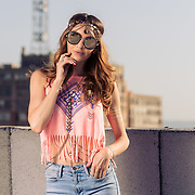 Rooftop shoot with LA model, Joceyln Binder. Images made at FD Photo Studios Rooftop on April 13, 2018 in Downtown Los Angeles, California. ©Michael Der