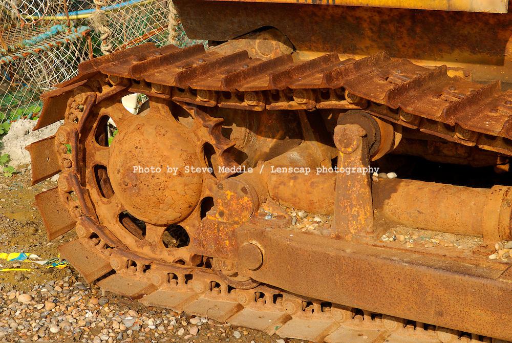 Rusty Caterpiller Tracks on Bulldozer - 2010