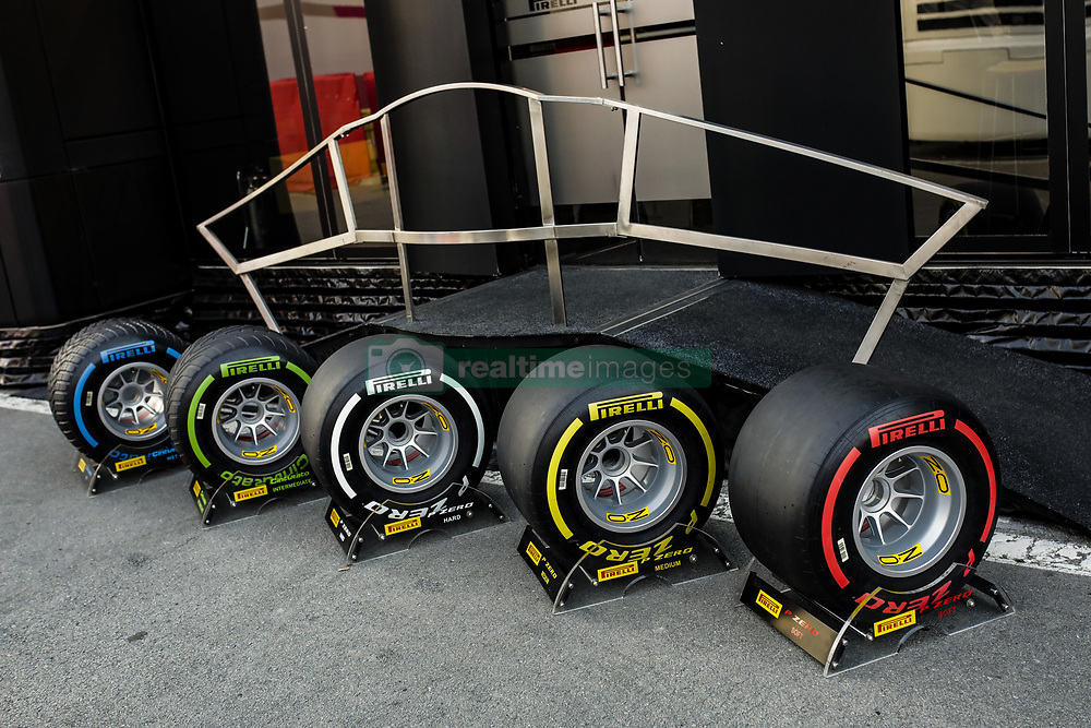 February 21, 2019 - Barcelona, Catalonia, Spain - Pirelli tyres compounds during the Formula 1 2019 Pre-Season Tests at Circuit de Barcelona - Catalunya in Montmelo, Spain on February 21. (Credit Image: © Xavier Bonilla/NurPhoto via ZUMA Press)