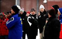 Fotball<br /> Adeccoligaen<br /> Treningskamp<br /> Rolvsrud Stadion<br /> 16.01.10<br /> Vegard Hansen , hovedtrener<br /> Hans Erik Ødegaard , hjelpetrener<br /> kjefter på Lørenskogs trenere etter stygg takling som førte til at Mads Hansen måtte av banen<br /> Foto: Eirik Førde