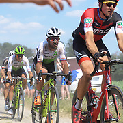 Images from the Camphin-en-Pével secteur of pavé during stage 9 of the 2018 edition of the Tour de France cycle race on Sunday 15 July 2018.
