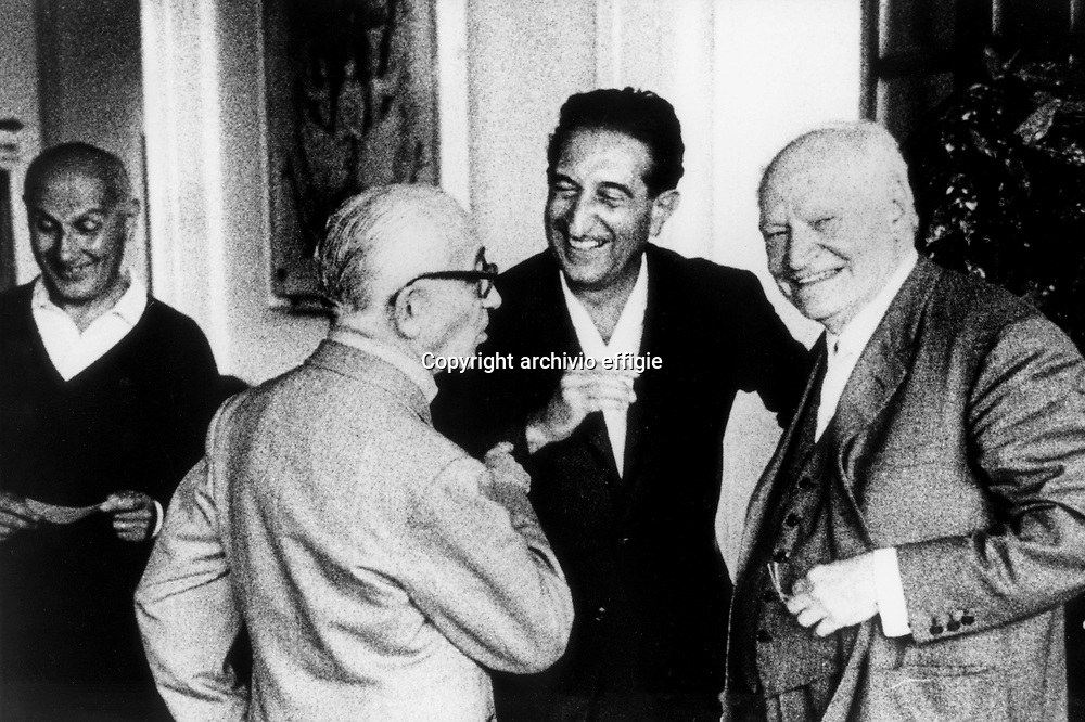 Natalino Sapegno, Giuseppe De Robertis, Enzo Paci, Giuseppe Ungaretti<br />Premio Viareggio<br />archivio effigie