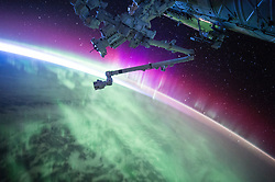 August 15, 2015 - Earth Atmosphere - Astronaut Scott Kelly posted this photo of an aurora taken from the International Space Station on August 15, 2015 with the caption, Another pass through Aurora. The sun is very active today, apparently. YearInSpace. (Credit Image: ? Scott Kelly/NASA via ZUMA Wire/ZUMAPRESS.com)