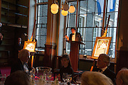 NICKY DUNNE, The London Library Annual  Life in Literature Award 2013 sponsored by Heywood Hill. The London Library Annual Literary dinner. London Library. St. james's Sq. London. 16 May 2013.