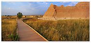 The bizarre and beautiful landscape of Badlands National Park, South Dakota. USA
