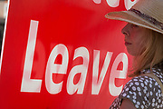 On the day that the Conservative Party elects its leader and the countrys Prime Minister, Boris Johnson, Brexiteers show their support on College Green after the result, on 23rd July 2019, in Westminster, London, England.