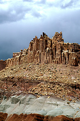 Utah: Capitol Reef National Park.  Moenkopi and Chinle geology formations.  .Photo copyright Lee Foster, www.fostertravel.com.Photo #: utcapi104, 510/549-2202, lee@fostertravel.com