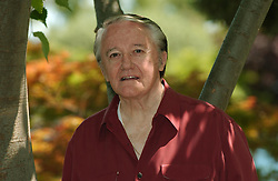 US actor Robert Vaughn, cast member of the UK TV serie ' Hustle', pictured in the Japanese Garden in Monaco on July 3, 2004, as part of the 44th Monte-Carlo TV Festival. Photo by Giancarlo Gorassini/ABACA.