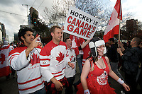 The final day of the Vancouver 2010 Winter Olympics. We take Gold in Men's Hockey.