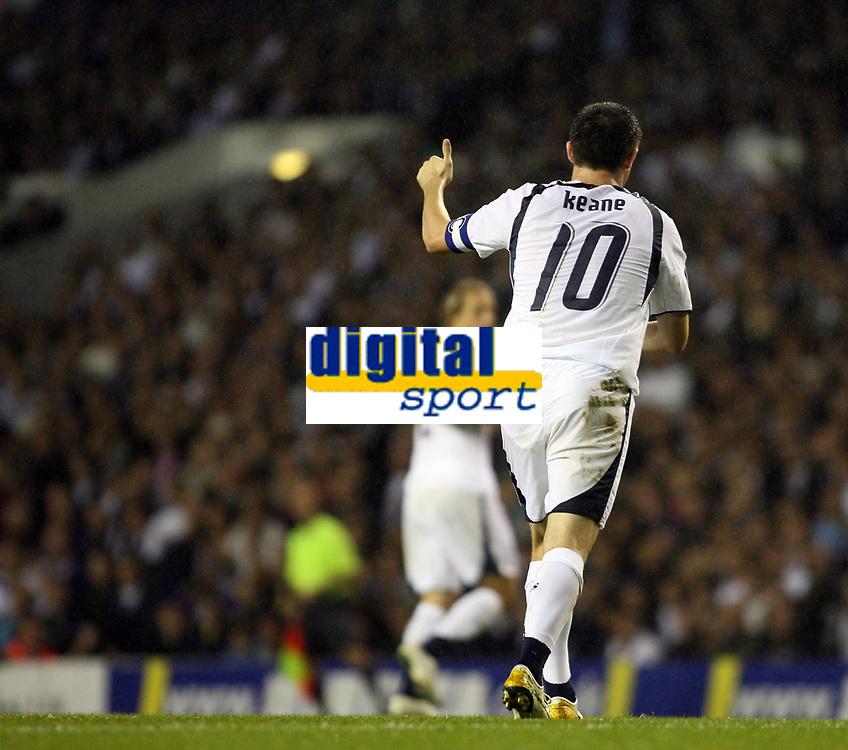 Photo: Chris Ratcliffe.<br /> Tottenham Hotspur v Slavia Prague. UEFA Cup. 28/09/2006.<br /> Robbie Keane of Spurs.