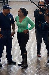 04 Sept  2005. New Orleans, Louisiana. Post hurricane Katrina.<br /> Oprah Winfrey, US talk show host, visits the Hyatt Hotel in New Orleans as she prepares to survey the hurricane damage.<br /> Photo Credit ©: Charlie Varley/varleypix.com