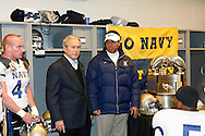 6 Dec 2008: President George W Bush Addresses the Navy team in their locker room before the Army / Navy game December 6th, 2008. At Lincoln Financial Field in Philadelphia, Pennsylvania.