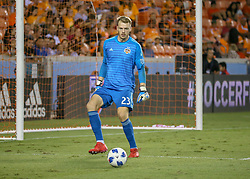 August 4, 2018 - Houston, TX, U.S. - HOUSTON, TX - AUGUST 04:  Houston Dynamo goalkeeper Joe Willis (23) puts the ball back into play during the soccer match between Sporting Kansas City and Houston Dynamo on August 4, 2018 at BBVA Compass Stadium in Houston, Texas.  (Photo by Leslie Plaza Johnson/Icon Sportswire) (Credit Image: © Leslie Plaza Johnson/Icon SMI via ZUMA Press)
