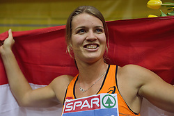 08-03-2015 CZE: European Athletics Indoor Championships, Prague<br /> Dafne Schippers pakt goud op de 60 meter