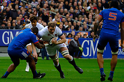March 10, 2018 - Saint Denis, Seine Saint Denis, France - The Lock of English team JOE LAUNCHBURY in action during the NatWest Six Nations Rugby tournament between France and England at the Stade de France - St Denis - France..France won 22-16 (Credit Image: © Pierre Stevenin via ZUMA Wire)