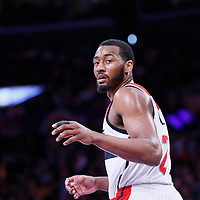 21 March 2014: Washington Wizards guard John Wall (2) is seen during the Washington Wizards 117-107 victory over the Los Angeles Lakers at the Staples Center, Los Angeles, California, USA.