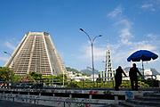 Metropolitan Cathedral Saint Sebastian, exterior view, Central, Rio de Janeiro.
