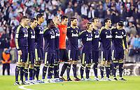During the 1st leg of a last-16 Copa del Rey soccer match at the Balaídos stadium in Vigo, Spain, Wednesday, Dec. 12, 2012.