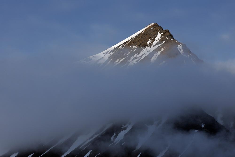 Mountain peak, Svalbard, Norway
