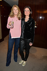 Left to right, the MARCHIONESS OF BUTE and MARY PARKINSON at a private screening of The Anonymous People in aid of Action on Addiction held at The Bulgari Hotel, 171 Knightsbridge, London on 20th May 2015.