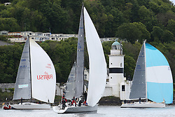 The Silvers Marine Scottish Series 2014, organised by the  Clyde Cruising Club,  celebrates it's 40th anniversary.<br /> Day 1, GBR1429L, Warrior, Ross Fullarton, FYC/CBSC, A40RC, FRA37296, Salamander XXI, John Corson, CCC, First 35, IRL1335, Spirit of Jacana, Bruce/Douglas, Carrickfergus SC, J133.<br /> <br /> Racing on Loch Fyne from 23rd-26th May 2014<br /> <br /> Credit : Marc Turner / PFM