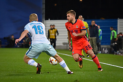 December 7, 2017 - San Sebastian, Basque Country, Spain - Kevin Rodrigues of Real Sociedad duels for the ball with Igor Smolnikov of Zenit during the UEFA Europa League Group L football match between Real Sociedad and Zenit at the Anoeta Stadium, on 7 December 2017 in San Sebastian, Spain  (Credit Image: © Jose Ignacio Unanue/NurPhoto via ZUMA Press)