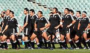 The Maori team perform the Haka. Australia A v New Zealand Maori during the 2008 IRB Pacific Nations Cup played at the Sydney Football Stadium, Australia on Sunday June 6. Photo: Clay Cross/SPORTSPICS<br /> clayjcross@bigpond.com    +61 413836650