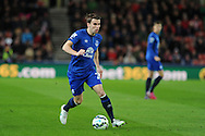 Seamus Coleman of Everton in action. Barclays Premier League match, Stoke city v Everton at the Britannia Stadium in Stoke on Trent , Staffs on Wed 4th March 2015.<br /> pic by Andrew Orchard, Andrew Orchard sports photography.