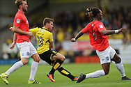 Will Miller has a shot during the EFL Sky Bet Championship match between Burton Albion and Brighton and Hove Albion at the Pirelli Stadium, Burton upon Trent, England on 17 September 2016.
