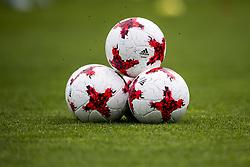 June 6, 2017 - Helsingborg, SVERIGE - 170606 Tre fotbollar pÅ' hÅ¡g under en trÅning med U21-landslaget i fotboll den 6 juni 2017 i Helsingborg  (Credit Image: © Ludvig Thunman/Bildbyran via ZUMA Wire)