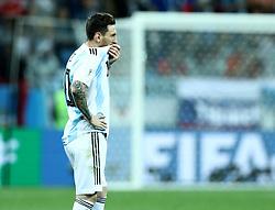 June 21, 2018 - Nizhny Novogorod, Russia - Group D Argentina v Croazia - FIFA World Cup Russia 2018.Disappointment of Lionel Messi (Argentina) at Nizhny Novgorod Stadium, Russia on June 21, 2018. (Credit Image: © Matteo Ciambelli/NurPhoto via ZUMA Press)