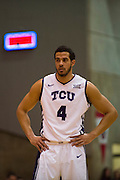 FORT WORTH, TX - JANUARY 19: Amric Fields #4 of the TCU Horned Frogs looks on against the Texas Longhorns on January 19, 2015 at Wilkerson-Greines AC in Fort Worth, Texas.  (Photo by Cooper Neill/Getty Images) *** Local Caption *** Amric Fields