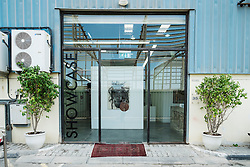 Showcase art gallery at Alserkal Avenue warehouses in Al Quoz district in Dubai United Arab Emirates