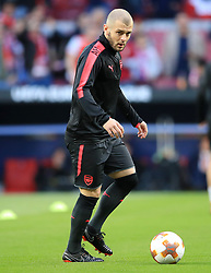 Arsenal's Jack Wilshere warms up ahead of the UEFA Europa League, Semi Final, Second Leg at Wanda Metropolitano, Madrid.